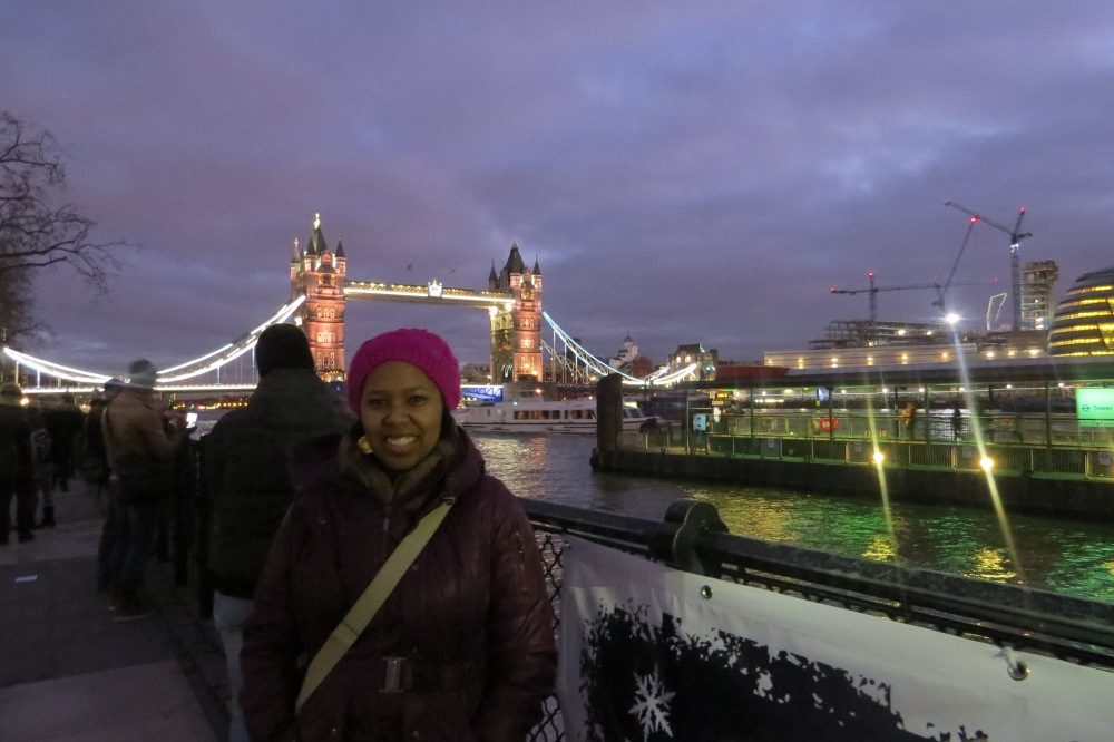 Jess at the Tower Bridge
