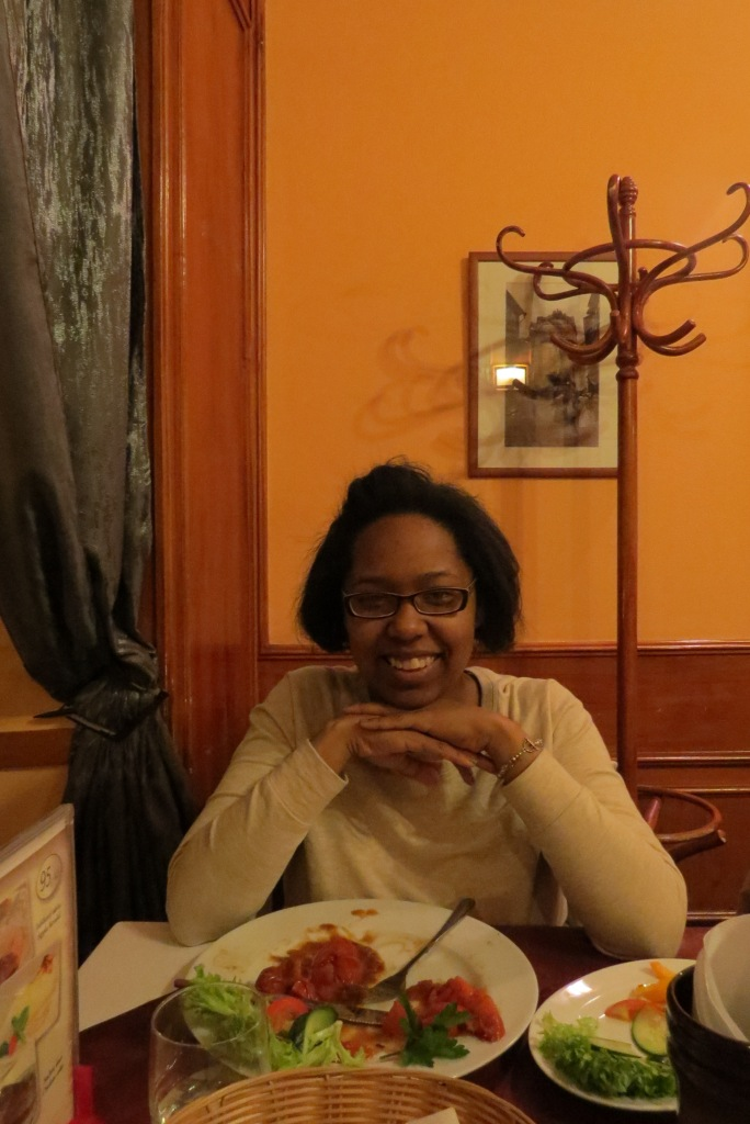 At dinner!