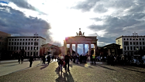 Brandenber Gate With Sun