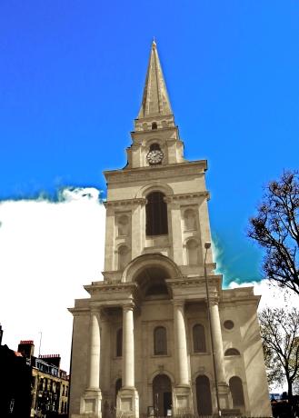 Church near Spitalfields Market